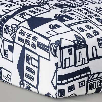 Oh Joy!® Woven Fitted Crib Sheet - City - Target