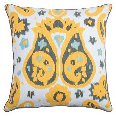 """Rizzy Home Laura Fair 20"""" x 20"""" Pillow - Yellow/White - Polyester fill - Target"""
