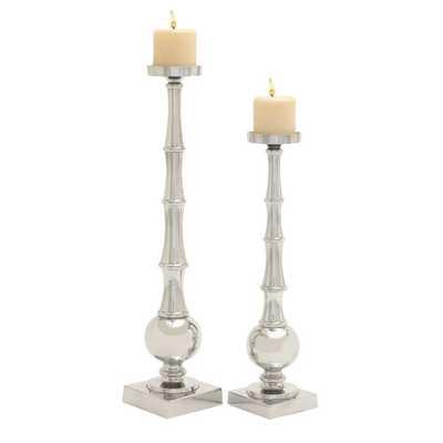 2 Piece Aluminum Candlestick Set - AllModern