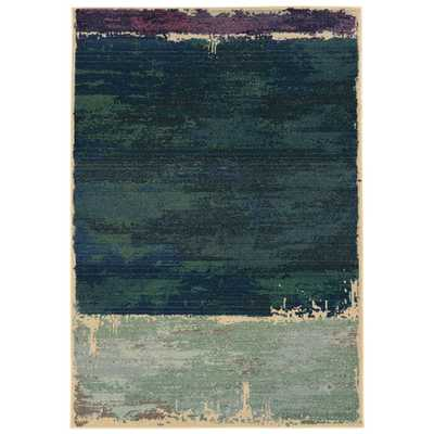 Expressions Abstract Green Area Rug - AllModern