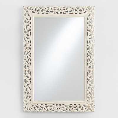 Segovia Whitewashed Mirror - World Market/Cost Plus