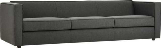 Club 3-seater sofa - Taylor Charcoal - CB2