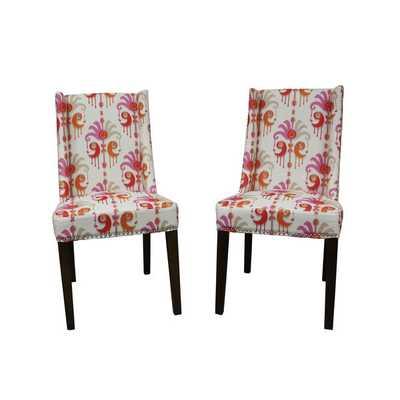 Mock Wingback Orange I-Kat Dining Chair (Set of 2) - Overstock