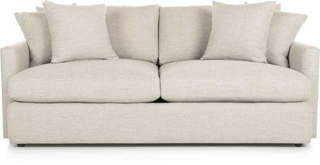 "Lounge II 83"" Sofa - Pearl - Crate and Barrel"