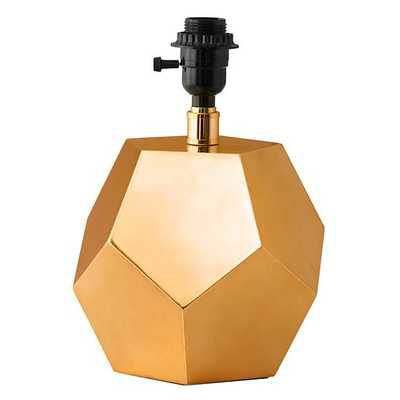 Between a Rock Table Lamp Base (Gold) - Land of Nod
