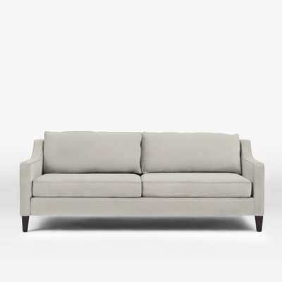 Paidge Sleeper Sofa - Basketweave, Putty Gray - West Elm