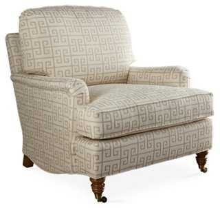 Bradley Club Chair, Oatmeal - One Kings Lane