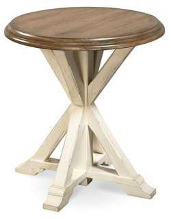 Windsor End Table, Wheat - One Kings Lane