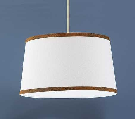Canvas with Leather Trim Flushmount Light - Pottery Barn Kids