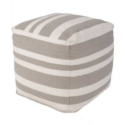 Pasco Stripe Cotton Pouf Ottoman - Wayfair