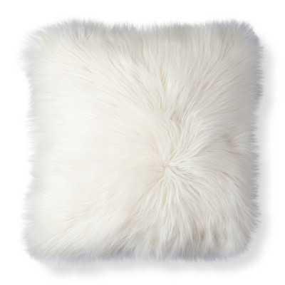 "Thresholdâ""¢ White Fur Decorative Pillow - Target"