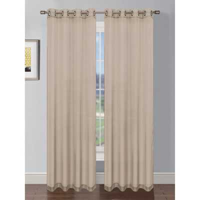 Sheer Solid Voile Grommet Extra Wide Single Curtain Panel - Wayfair