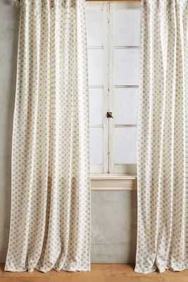 "Dotted Saskia Curtain - 84"" x 50"" - Anthropologie"