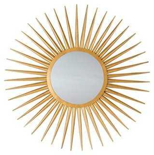 Jada Sunburst Wall Mirror, Gold - One Kings Lane