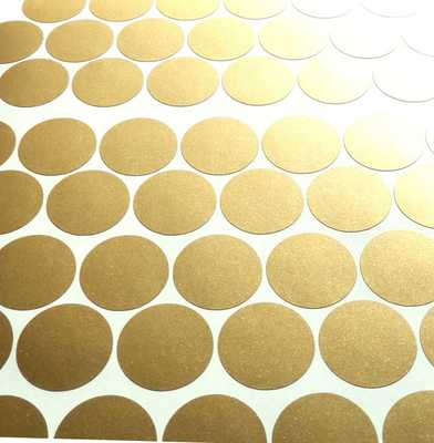 100 Matte Gold polka dots stickers, circle vinyl decals - Etsy