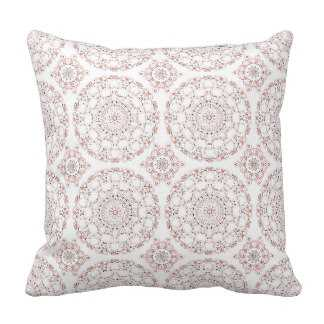 "Elegant Peach & Mauve Ornamental Medallion Design Pillow-16""x16""-Insert - zazzle.com"