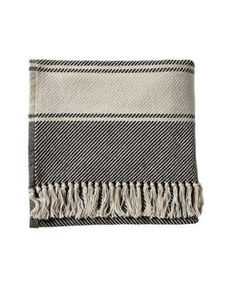 Brahms Mount Banded Herringbone Throw - Serena and Lily