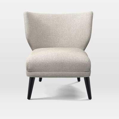 Retro Wing Chair-Twill-Stone - West Elm