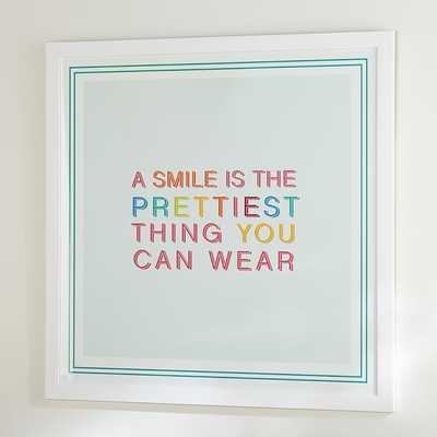 Hello Smile Wall Art - Pottery Barn Teen