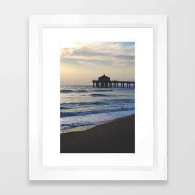 "Manhattan Beach Pier - 10"" x 12"" - Framed - Society6"