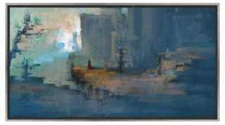 "Blue View 41.75"" x 21.75"" framed - One Kings Lane"