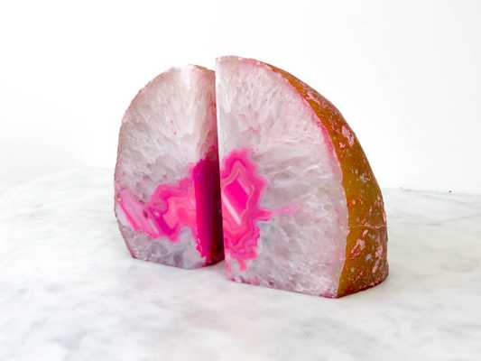 Pink Geode Bookends - Etsy