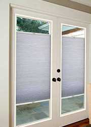 French Door Light Filtering Cellular Shade - Coral, 30x20 - blinds.com