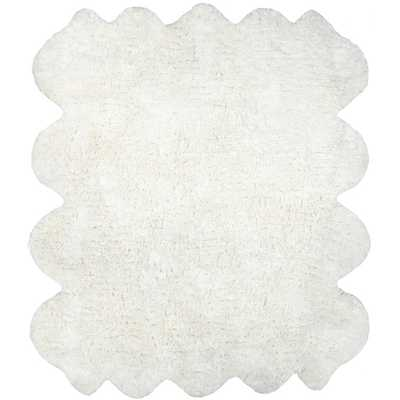 Hand-tufted Faux Sheepskin Octo Pelt Natural Shag Rug - Overstock