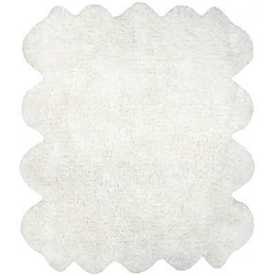 Hand-tufted Faux Sheepskin Octo Pelt Natural Shag Rug - Overstock