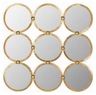 Multi Circle Mirror, Gold - One Kings Lane
