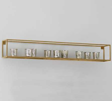 Cube Display Shelves - Brass - Long Rectangle - Pottery Barn