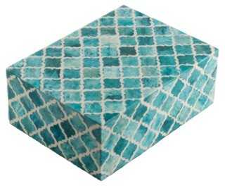 "8"" Moroccan Tile, Turquoise - One Kings Lane"