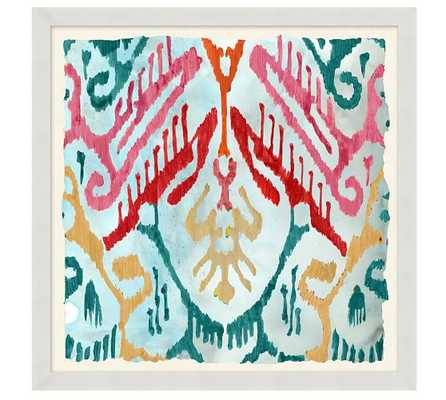 "MULTICOLOR COLORFUL PAINTERLY IKATS FRAMED PRINTS - 21"" sq. - Pottery Barn"
