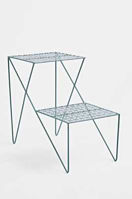 Two Tier Side Table, Teal - Urban Outfitters