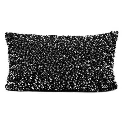 Michael Amini Sequined Throw Pillow - 12x20, With Insert - Overstock
