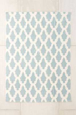 """Magical Thinking Flourish Tile Printed Rug- Teal- 8"""" 10"""" - Urban Outfitters"""