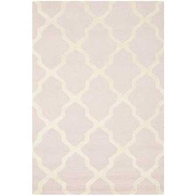 Cambridge Moroccan Light-Pink Wool Rug - 9' x 12' - Overstock