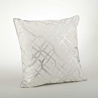 Lustrous Metallic Foil Print Throw Pillow - AllModern