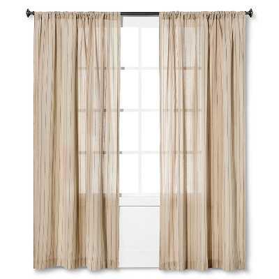 "Nate Berkusâ""¢ Pinstripe Curtain Panel - Target"