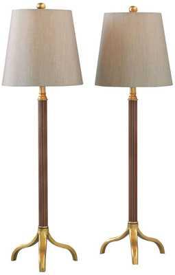 Port 68 Portobello Gold Leaf Buffet Table Lamp Set of 2 - Lamps Plus