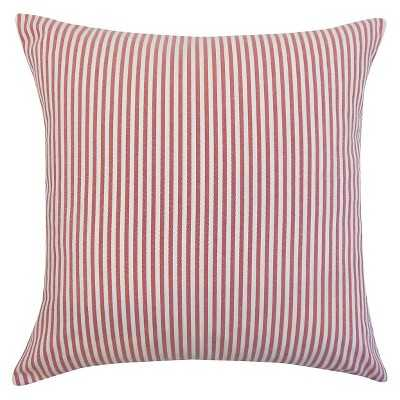 """The Pillow Collection Stripe Decorative Pillow - 18"""" x 18"""" - Insert Included - Target"""