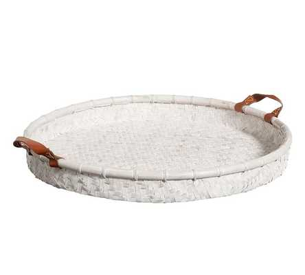 Whitewash Woven Tray - Pottery Barn