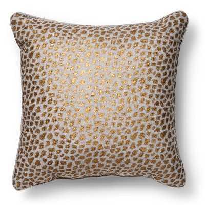 Metallic Cheetah Print Throw Pillow - Target