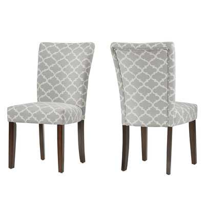 Kiantone Parsons Chair - Set of 2 - Frost Grey - Wayfair
