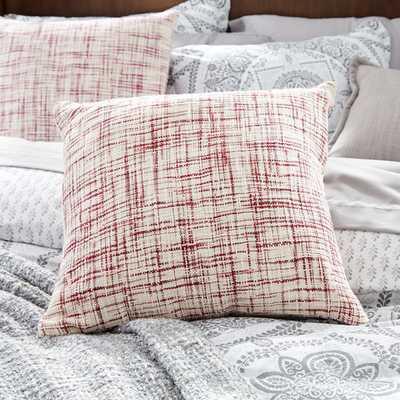 """Woven Cotton Throw Pillow, 22""""sq, Marron/White - No insert - AllModern"""
