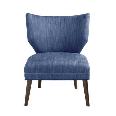 Madison Park Harlyn Armless Retro Wing Chair--Blue - Overstock