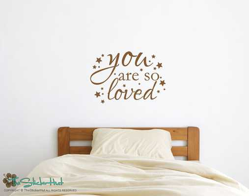 You Are So Loved with Stars - Vinyl Wall Art Saying Words Decal Stickers Vinyl Lettering Boy or Girl - Etsy