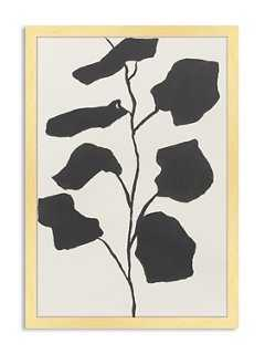 Catherine Jones, Black Fiddle-Leaf FigJones, Black Fiddle Leaf Fig - 15x24 - Framed - One Kings Lane