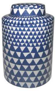 Graphic Ceramic Jar - One Kings Lane