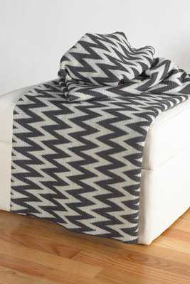 ZIG ZAG THROW - Grey/White - Home Decorators